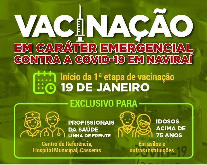 Vacinação Em Caráter Emergencial Contra a covid-19 em Naviraí